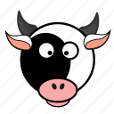 animal, cow, cute, dairy, farm, milk, pet icon