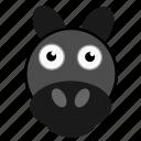 animal, donkey, farmhand, horse, pet, worker, workhorse icon