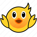 animal, cute, duck, duckling, ducky, farm, pet icon