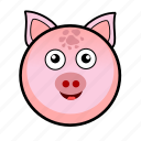 animal, cute, farm, pet, pig, piggy, piglet icon