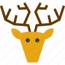 animal, caribou, deer, hunting trophy, reindeer icon