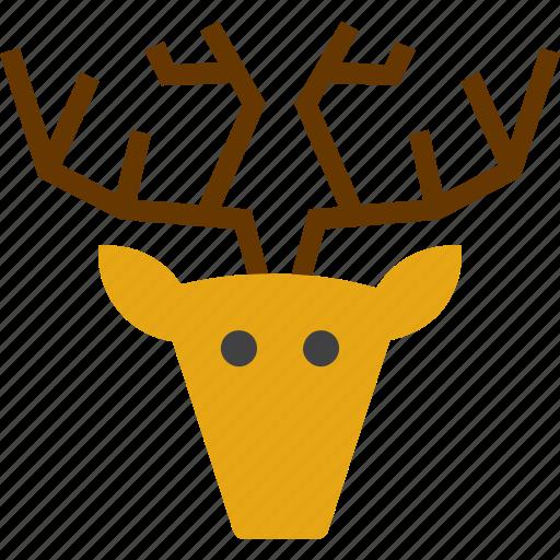 animal, caribou, deer, hunting trophy, reindeer icon