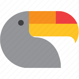 animal, bird, toucan icon