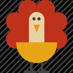 animal, bird, peacock, turkey icon