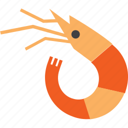 animal, crustacean, prawn, seafood, shrimp icon