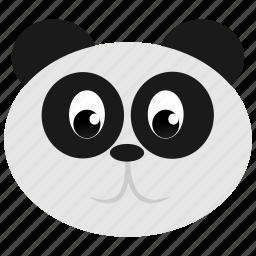 animal, bear, face, panda, wild, zoo icon