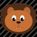 animal, brown, face, lion, wild, zoo icon