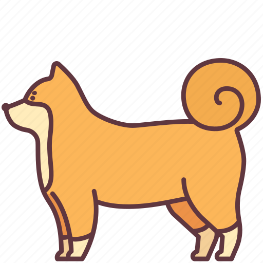Animal, dog, domestic, fluffy, furry, pet, shiba icon - Download on Iconfinder