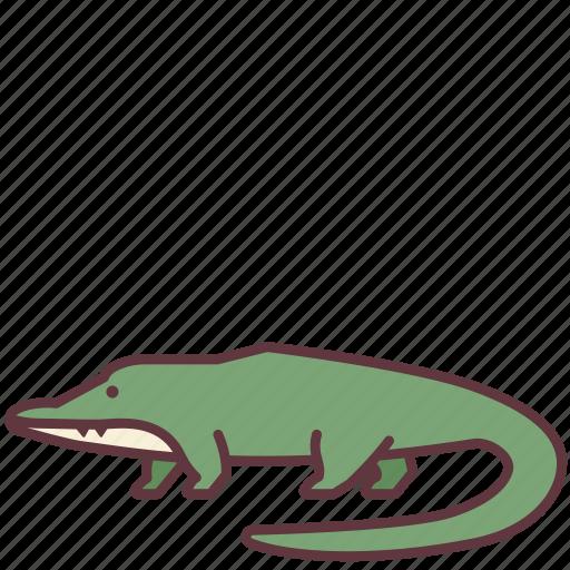 alligator, animal, creature, crocodile, reptilia, wild icon