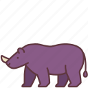 animal, creature, horn, mammal, rhino, wild, zoo icon