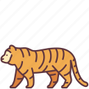 animal, creature, leader, tiger, wildlife, zoo icon