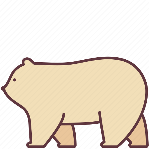Animal, bear, fluffy, mammal, polar, walk, zoo icon - Download on Iconfinder
