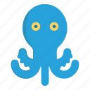 animal, octopus, river, sea, water icon