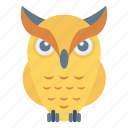 animal, bird, fly, owl, zoo icon
