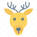 animal, christmas, forest, reindeer icon