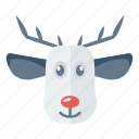 animal, christmas, mammal, reindeer icon