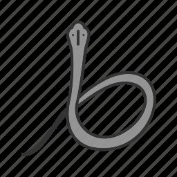 bite, cobra, king, nature, poison, snake, wild icon