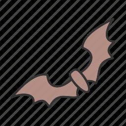 bat, bats, dark, fly, mammals, night, wings icon