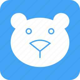 bear, cub, ice, polar, wild icon