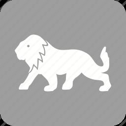 big cat, fast, jungle, king, leopard, lion icon