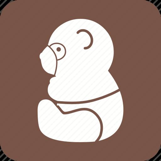 animal, bamboo, bear, mammal, panda, snow, wildlife icon