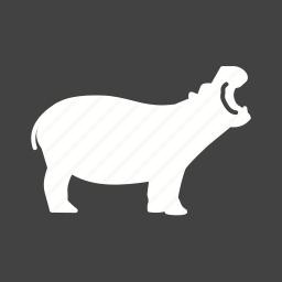 africa, animal, hippo, hippopotamus, hippos, kenya, wildlife icon