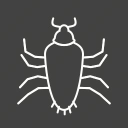 antenna, brown, bug, cockroach, dirty, insect, pest icon