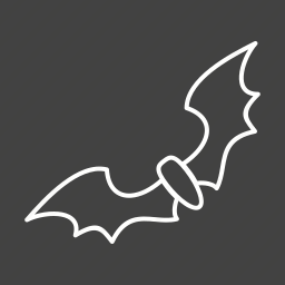 bat, bats, dark, fly, mammals, night, wings icon