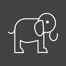 african, animal, baby, big, elephant, safari, trunk icon
