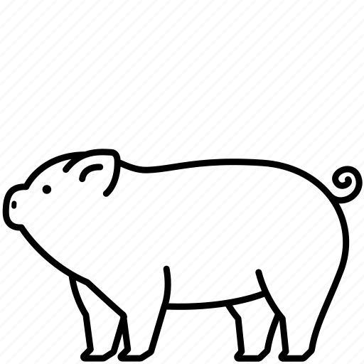 Animal, domestic, food, mammal, pet, pig icon - Download on Iconfinder