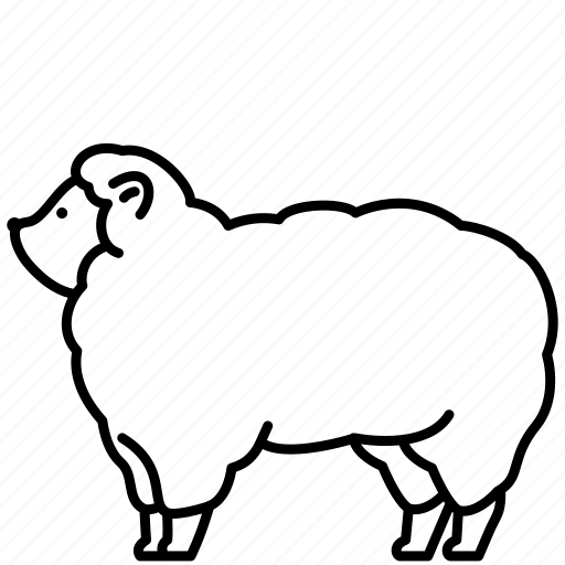 Animal, domestic, farm, pet, sheep, zoo icon - Download on Iconfinder