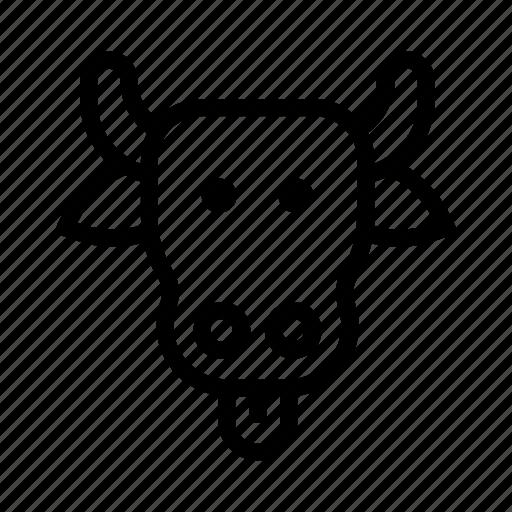 beef, bovine, cattle, cow, farm, gado, vache icon