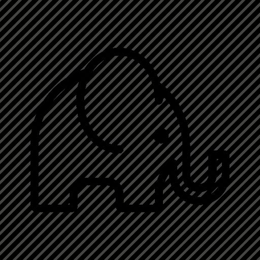 animal, elefante, elephant, giant, heavy, jungle, throb icon