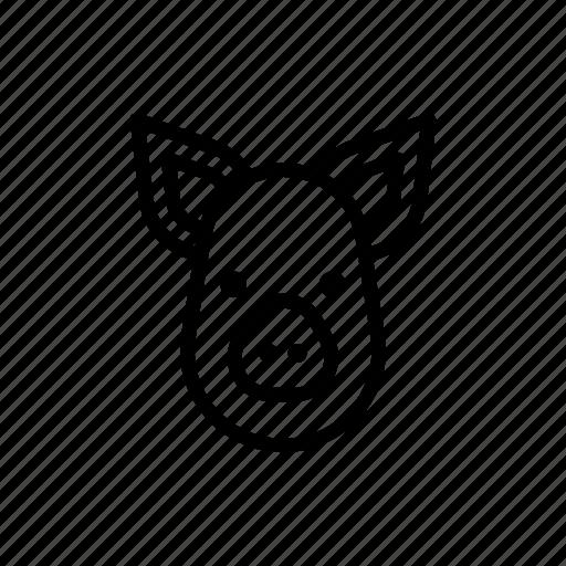 farm, hog, pig, porc, porco, pork, swine icon