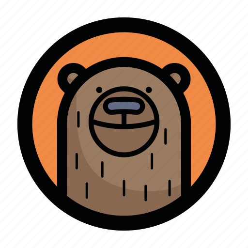 animal, bear, face, teddy icon