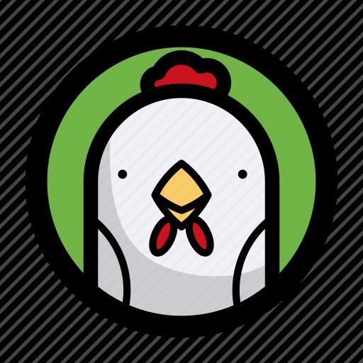 animal, chicken, face icon