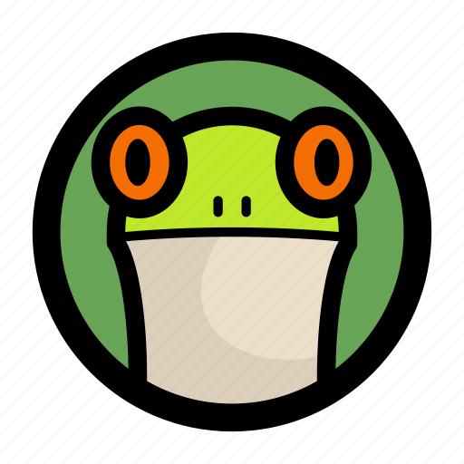 amphibian, animal, face, frog, toad icon