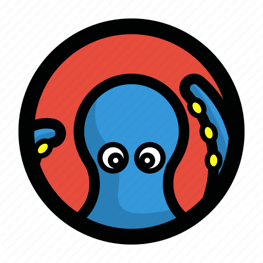 animal, face, ocean, octopus, sea, seafood icon
