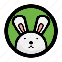 animal, bunny, face, rabbit icon