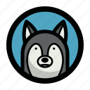 animal, dog, face, wild, wolf icon