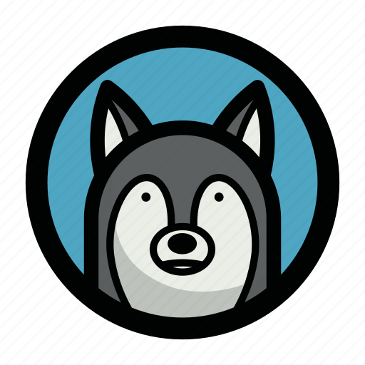 animal, dog, face, wild, wolf icon