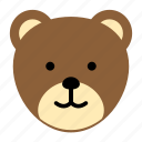 animal, bear, stuffed, wild, zoo icon