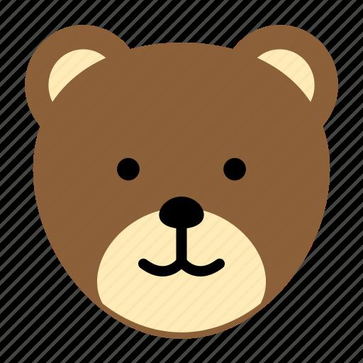 animal, bear, stuffed, wild, zoo icon