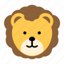 animal, jungle, king, lion, wild, zoo icon