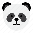 animal, cute, panda, stuffed, zoo icon