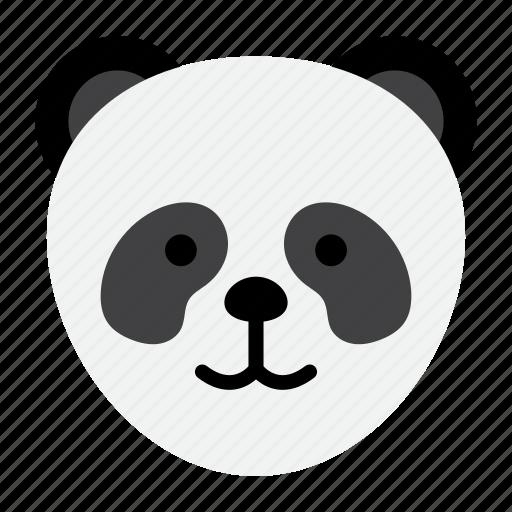 animal, cute, panda, stuffed, zoo icon