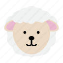 animal, farm, lamb, sheep, wool, zoo icon