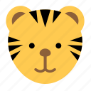 animal, fast, jungle, tiger, wild, zoo icon