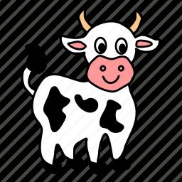 animal, cow icon