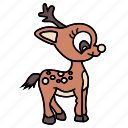 cute, deer icon